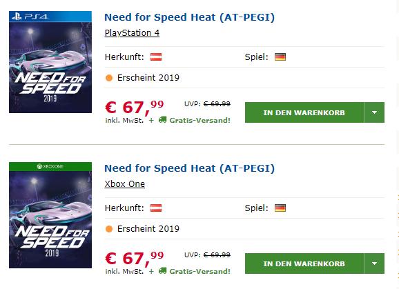 Need for speed leak