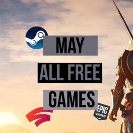 Mai 2020 : la majorité des jeux gratuit