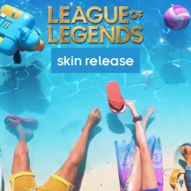 Riot dévoile les nouveaux skins Pool Party en montrant uniquement les jambes des champions.