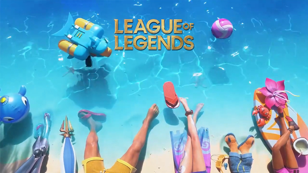 riot games tease upcoming league of legends pool party 2020 skins