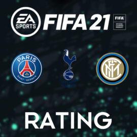 Les notes des joueurs du PSG, les Spurs et l'Inter Milan sur Fifa 21 confirmées !