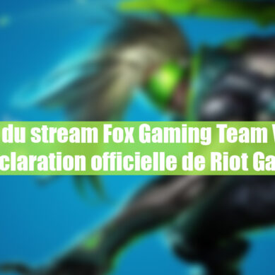 "League of legends Mena : ""Le lag du stream Fox Gaming Team Vs TBL"" la déclaration officielle de Riot Games ."