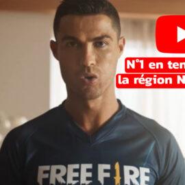 [ Cristiano Ronaldo x Free Fire ] la publicité est n°1 en tendance sur youtube dans la région Nord-Africaine.