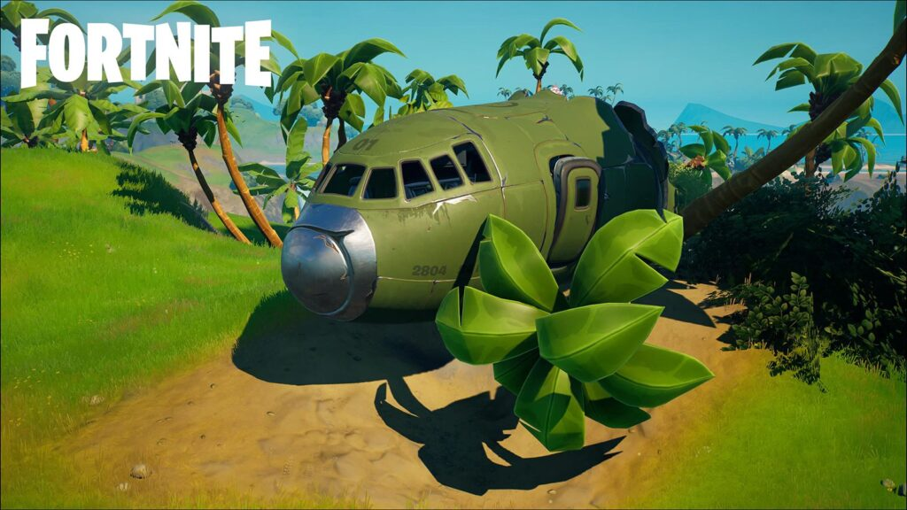 .Fortnite-Crashed-Plane