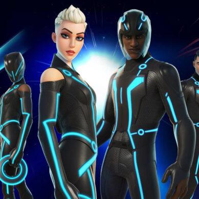 Tron envahit Fortnite avec des cycles légers et de nouveaux skins